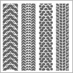 Grunge tire tracks design vector 10