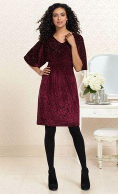 #MySomaWishList  Merlot Profile: #Soma Devore Velvet Dress in Merlot #SomaIntimates