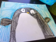 Penguin Directed Drawing Freebie