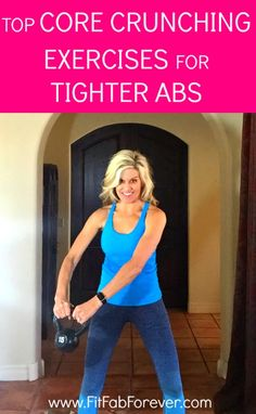 Want tighter abs? Here's some great exercises for 6 pack abs! http://www.fitfabforever.com/2016/12/05/top-core-crunching-exercises-for-tighter-abs/
