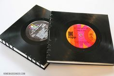 Handmade Vinyl Record Book VIDEO TUTORIAL Great for guest book for music lovers - T & Jack