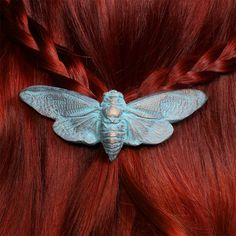 Hey, I found this really awesome Etsy listing at https://www.etsy.com/listing/103731119/cetonia-designs-cicada-barrette-patina