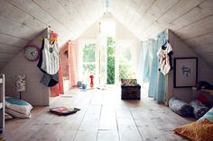 Kreative Idee für coole Kinderdachböden-Designs für cooles Mädchen-Kinderzimmer