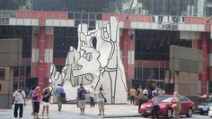 Jean DuBuffet's Standing Beast - http://art-nerd.com/chicago/jean-dubuffets-standing-beast/