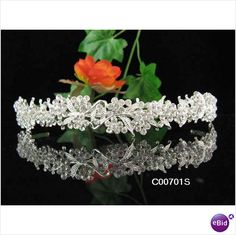 alloy elegance wedding occassions tiara bridal party comb veil gown#0701s