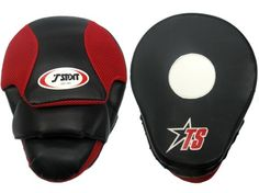 TSport Curved PU Boxing Martial Arts Focus Mitts  BlackRed  Size 10 by TSport -- Click affiliate link Amazon.com on image for more details.