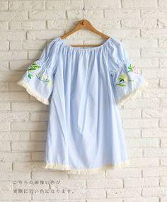 【楽天市場】【再入荷♪7月15日12時&22時より】「french」花刺繍の美しい袖チュニック:cawaii