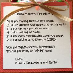 Happy Mother's Day poem adapted from speaking-domestically.com