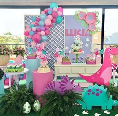 Super Baby Shower Ideas For Girs Pink Gold First Birthdays 30 Ideas Dinasour Birthday, Girl Dinosaur Birthday, Turtle Birthday, Turtle Party, 3rd Birthday Party For Girls, Girl Birthday Themes, Birthday Ideas, Dinosaur Party Decorations, Birthday Party Decorations