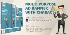 Download Free              HTML5 Animated banner templates | «Character»            #               ad banner #ad templates #Adobe Edge Animate #ads #animated #banner #corporate ad banners #edge animate #Edge Animate ad template #Edge Animate ad templates #html5 #html5 ad banners #html5 ad templates #multipurpose ad banners