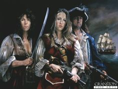 Anne Bonney, Mary Reid and Calico Jack Rackam by Chris Collingwood.
