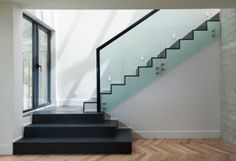 glass and metal balustrade