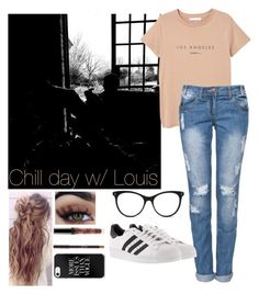 """""""Louis🖤"""" by pstyles5 ❤ liked on Polyvore featuring STELLA McCARTNEY, MANGO and adidas"""