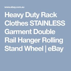 Heavy Duty Rack Clothes STAINLESS Garment Double Rail Hanger Rolling Stand Wheel   eBay Heavy Duty Racking, Wheels For Sale, My Ebay, Hanger, Rolls, Clothes, Outfits, Clothes Hanger, Clothing