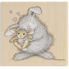 Love Bunny - House Mouse HappyHoppers rubber stamps