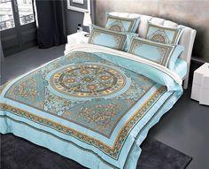 New Arrival 4/6pcs Bedding Set Queen King Size Bed Sheet Bedlinen Egyptian Cotton Duvet Cover Sets Bedroom #Affiliate