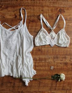 How to Wear It: Ohhh Lulu 'Lily' Satin & Lace Bohemian Racerback Bralette on @etsy