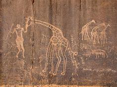 The cave paintings at Tassili-n-Ajjer
