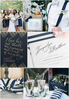 Do you love bowties, stripes, and everything vintage?   Vintage romance wedding inspiration from #shineweddinginvitations