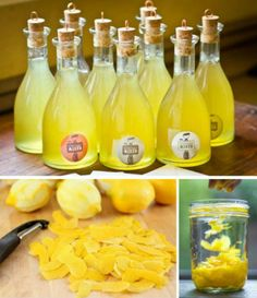 Homemade Limoncello and Arancello - definately going to try these! Cocktails, Cocktail Drinks, Cocktail Recipes, Alcoholic Drinks, Beverages, Homemade Alcohol, Homemade Liquor, Homemade Liqueur Recipes, Yummy Drinks