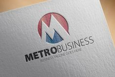 Check out Metro Business M Letter Logo by samedia on Creative Market