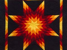 Lone Star Quilt -- terrific cleverly made Amish Quilts from Lancaster Country Quilts, Amish Quilts, Star Quilts, Quilt Blocks, Lone Star Quilt Pattern, Star Quilt Patterns, Patchwork Patterns, Blanket Patterns, Block Patterns