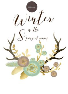 Winter Is The Spring of Genius by DebcreatesStore on Etsy