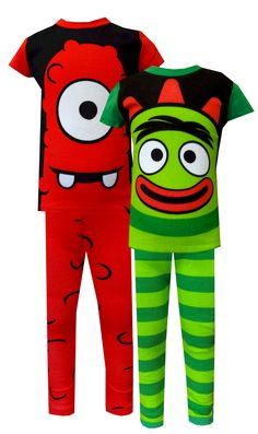 Nickelodeon Yo Gabba Gabba Brobee and Muno Toddler Pajamas, $25  What a pair! These super cute pajamas for toddler boys feature Nickelodeon's Yo Gabba Gabba favorites Muno and Brobee. Each pair resembles the outfit worn by the charcater in the show. These 100% cotton pajamas are designed to be snug fitting for flame resistance.