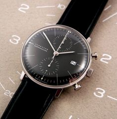 Max Bill Chronoscope / Junghans - Swiss architect, artist and Bauhaus student / watch designed in 1960s