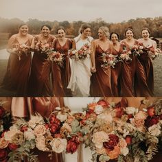 Perfect photos from our happy buyer! Check out our lovely velvet dresses! They're great for your winter wedding! Country Wedding Colors, Fall Wedding Colors, Winter Wedding Bridesmaids, Fall Wedding Flowers, Rose Wedding, Floral Wedding, Dream Wedding, Velvet Bridesmaid Dresses, Burnt Orange Bridesmaid Dresses