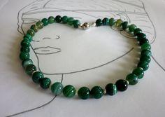 Achat - Achat Collier grün Nefret - ein Designerstück von sibea bei DaWanda