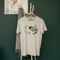 T-Shirt after surf Surfing, T Shirt, Tops, Style, Fashion, Open Shoulder Top, Cotton, Gifts, Supreme T Shirt