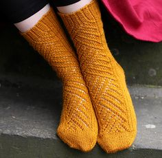 Winding Way by tincanknits #socks #knit