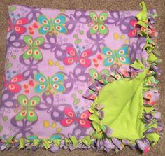 Children's Butterfly fleece blanket!