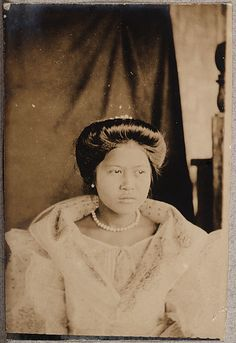 image Old Photos, Vintage Photos, President Of The Philippines, Philippine Women, Filipino Culture, Filipiniana, Mindanao, Historical Pictures, Pinoy