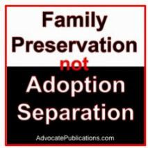 family preservation not adoption separation