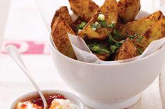 Spicy Potato Wedges With Sour Cream Recipe - Taste.com.au