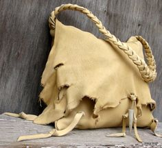 Palomino Elk Leather Bag RESERVED for TwigHair by Stacy Leigh