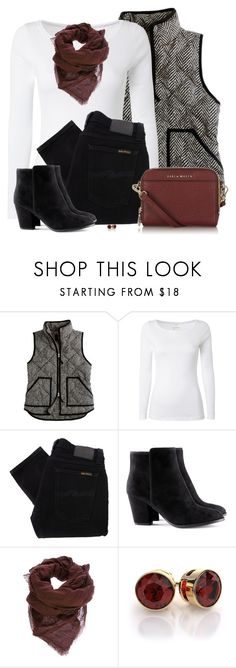 """""""Quilted Herringbone Vest"""" by daiscat ❤ liked on Polyvore featuring J.Crew, White Stuff, Nudie Jeans Co., H&M and Faliero Sarti"""