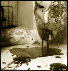 then they throw dirt in your face. then the worms eat you. Macabre Art, Sombre, Gothic Art, Horror Art, Photo Manipulation, Black Art, Art Forms, Photo Art, Cool Art