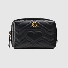 cf0a5eb6df52 GG Marmont cosmetic case Gucci Marmont, Gg Marmont, Toiletry Bag, Purse  Wallet,