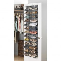 Keep your shoes tidy and organized with this useful Whitmor Crosshatch Over-The-Door Shoe Shelf. No installation necessary, just hang over your bedroom or closet door and store up to 26 pairs of shoes. Shoe Storage Shelf, Corner Storage, Storage Bins, Storage Drawers, Storage Spaces, Storage Ideas, Shoe Tidy, Shoe Storage Solutions, Hanging Shoe Organizer