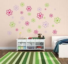 Get It Now Flower Wall Decor Set of 48 Flower Wall Decals - Nursery Wall Decals Childrens Room Decor Kids Room Teen Room Vinyl Wall Decal Flower Decor by NewYorkVinyl. Beach Wall Decor, Wall Decor Set, Kids Wall Decor, Childrens Room Decor, Metal Wall Decor, Flower Wall Decals, Nursery Wall Decals, Vinyl Wall Decals, Crib Wall