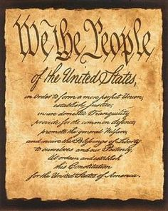 """We the People of the United States, in Order to form a more perfect Union, establish Justice, ensure domestic Tranquility, provide for the common defence, promote the general Welfare, and secure the Blessings of Liberty to ourselves and our Posterity, do ordain and establish this Constitution for the United States of America."" — Preamble to the Constitution"