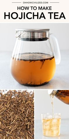 This guide from Oh, How Civilized for making hojicha tea is perfect for making the perfect cup every time. This roasted green tea is caffeinated and can be made both hot and iced. Grab this easy tea recipe and try a refreshing hojicha tea today. #tea #greentea #hojichatea #tearecipe Non Alcoholic Drinks, Beverages, Tea Recipes, Dessert Recipes, Spring Salad, Tea Sandwiches, Molecular Gastronomy, Food Presentation, Food Plating