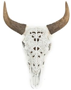 Ox skull art wit - By Boo