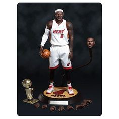 Hot NBA Miami Heat Dwyane Wade 3 1:9 Scale 9 inch Figure Box Set