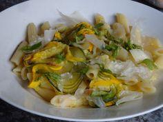 Gourmandises végétariennes: Pasta mit gebackener Zucchini