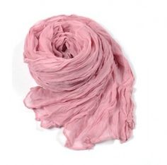 wholesale Vogue Winter Multi-use Pure Color Scarf Pink