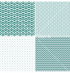 Seamless sea nautical pattern vector by Tolchik on VectorStock®